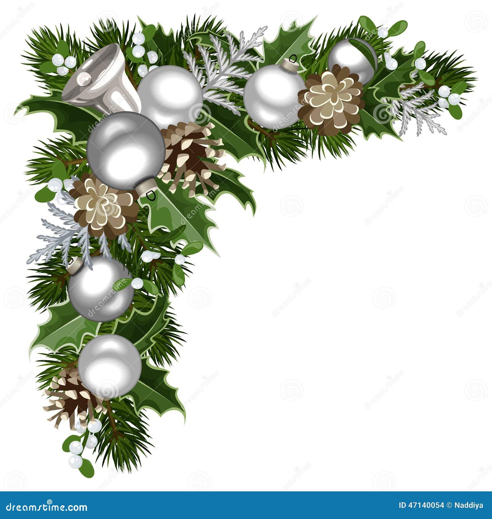 Esquina decorativa de la Navidad Ilustración del vector