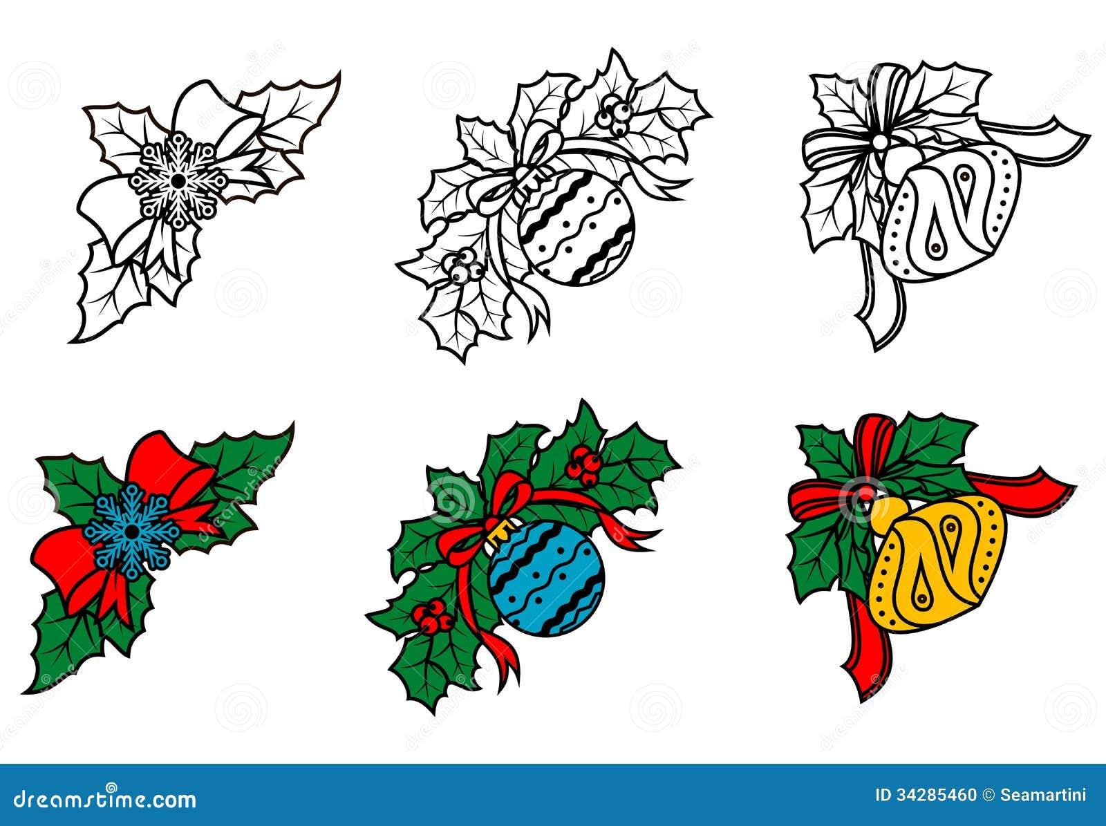 Esquinas decorativas de la navidad fijadas ilustraci n del - Fotos decorativas ...