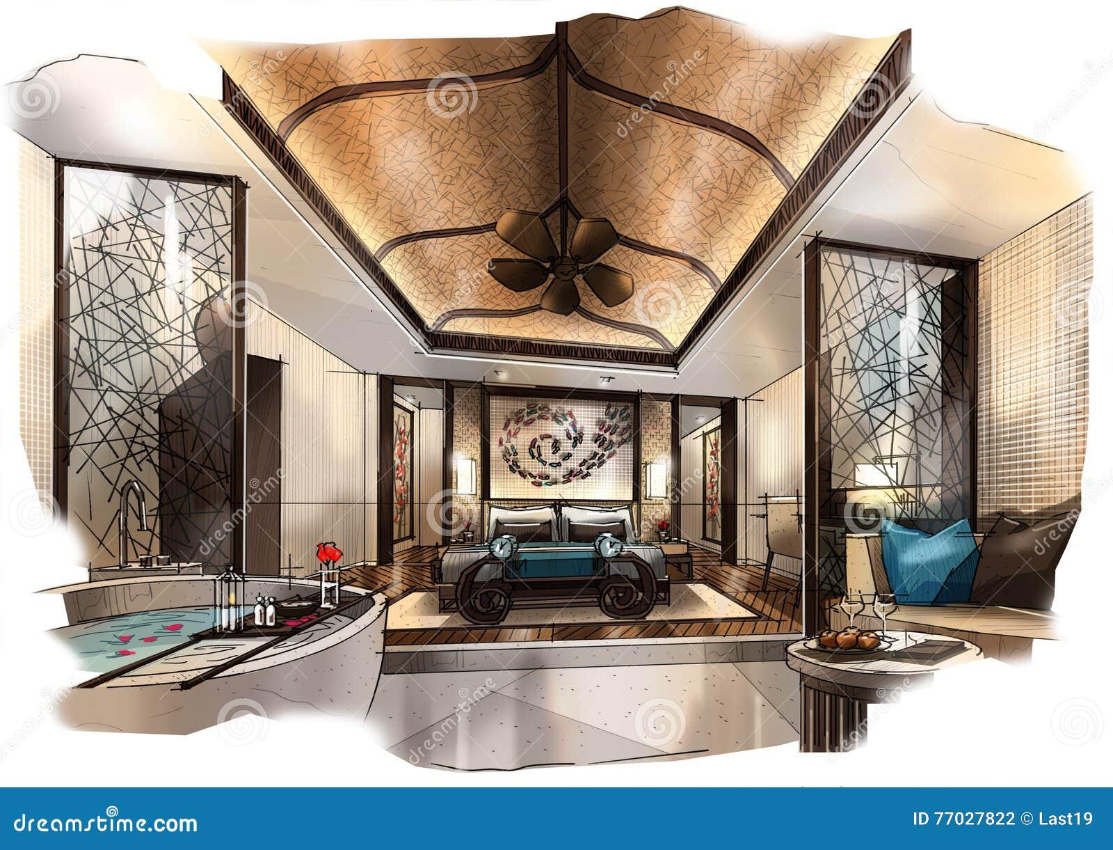 Beautiful Chambre En Perspective Facile Photos - ansomone.us ...