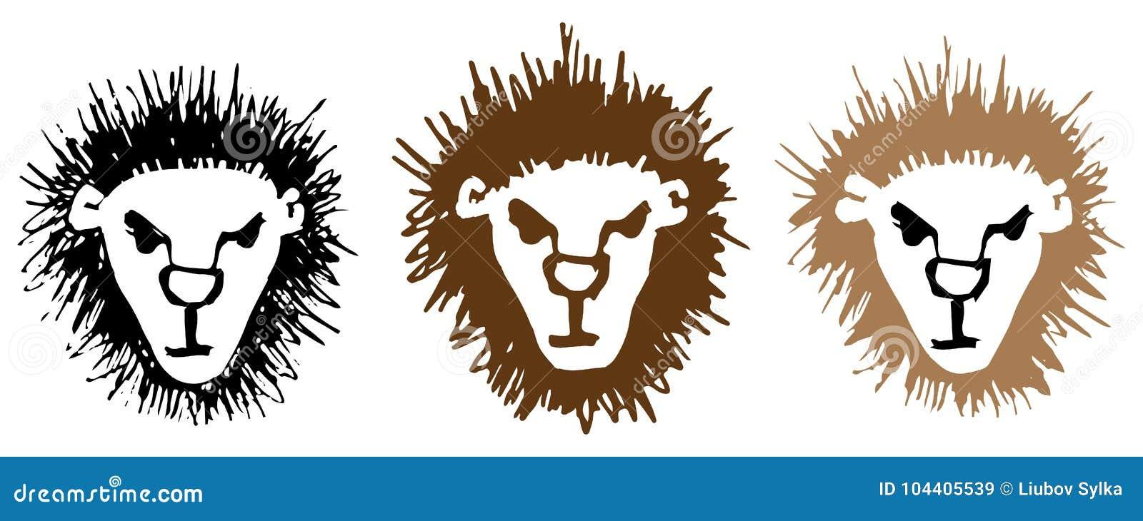 Esquissez La Tête De Profil Du S De Lion De Dessin De Main