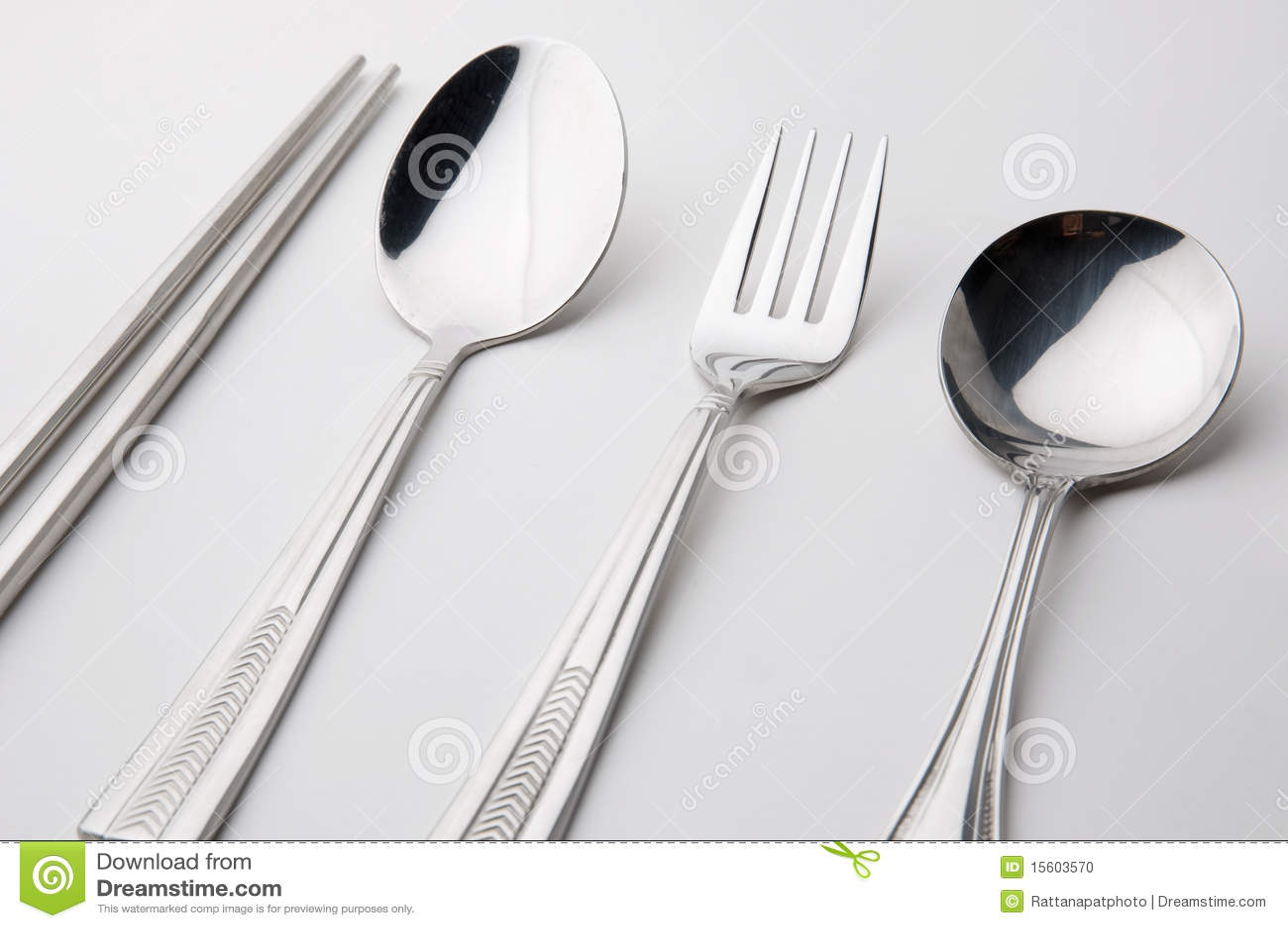 Ess-Stäbchen spoon und gabeln Edelstahl