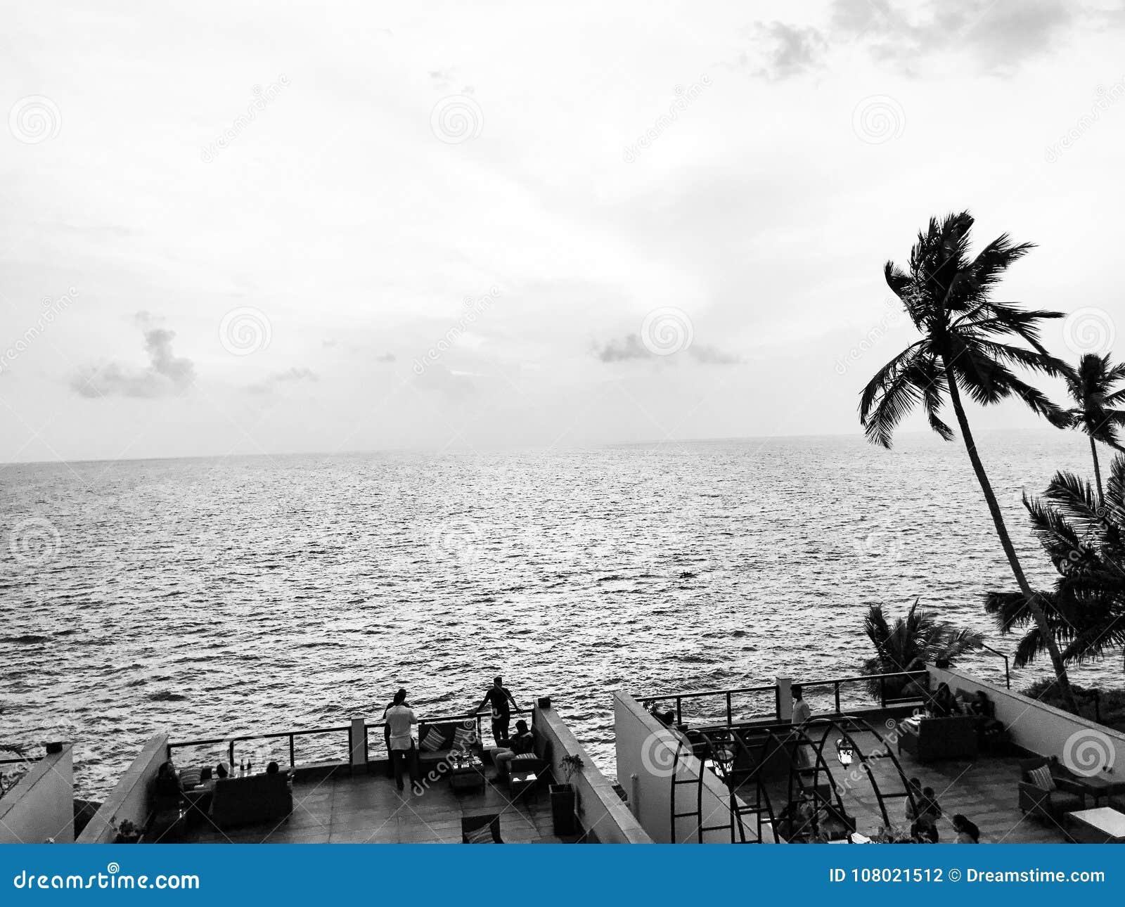 Essa vista embora Em um recurso em Trivandrum, Índia