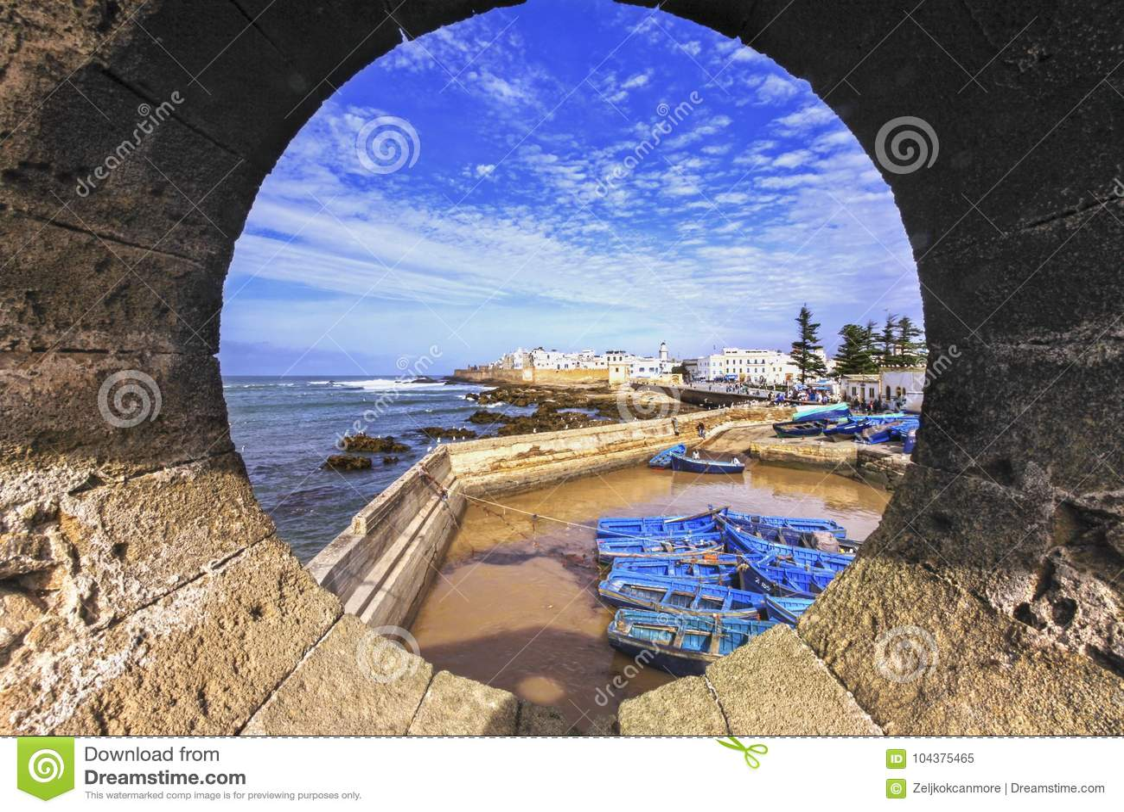 Essaouira Marokko Fischerei-Hafen