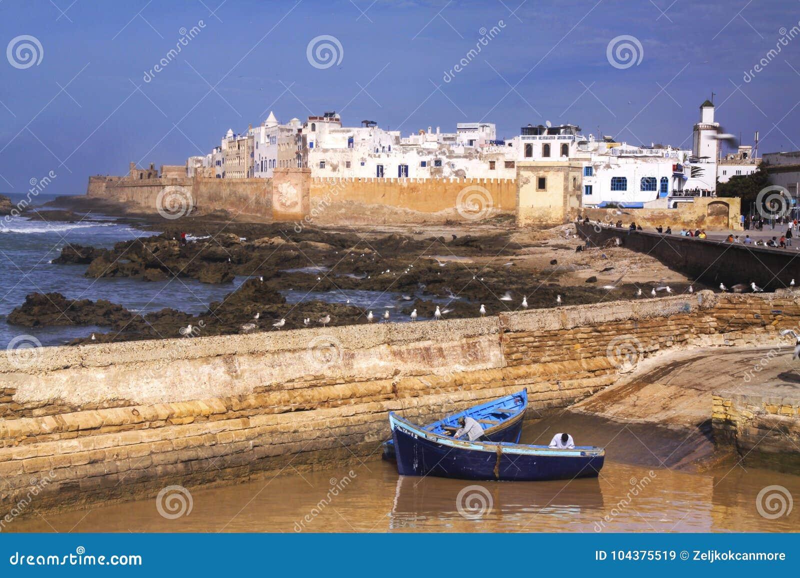 Essaouira Maroko miasta Stare Portugalskie Śródziemnomorskie ściany
