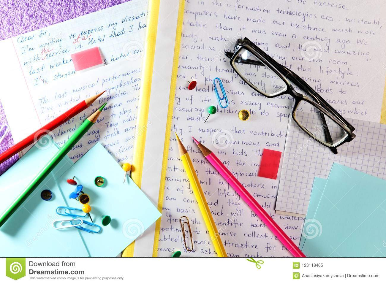 essays in english language ready for lessons stock image  image of  essays in english language ready for lessons