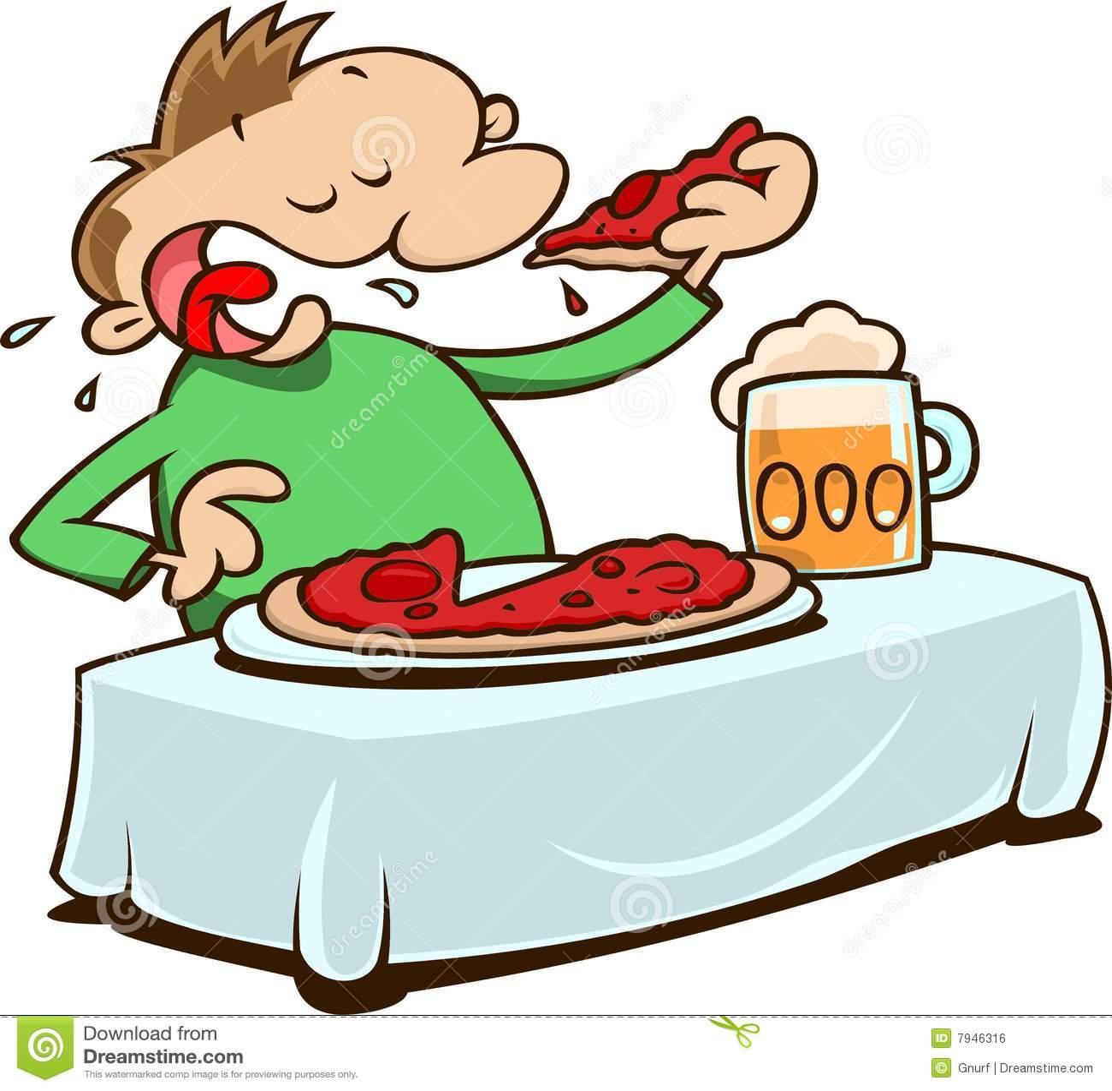 Essen Der Pizza Lizenzfreies Stockbild Bild 7946316