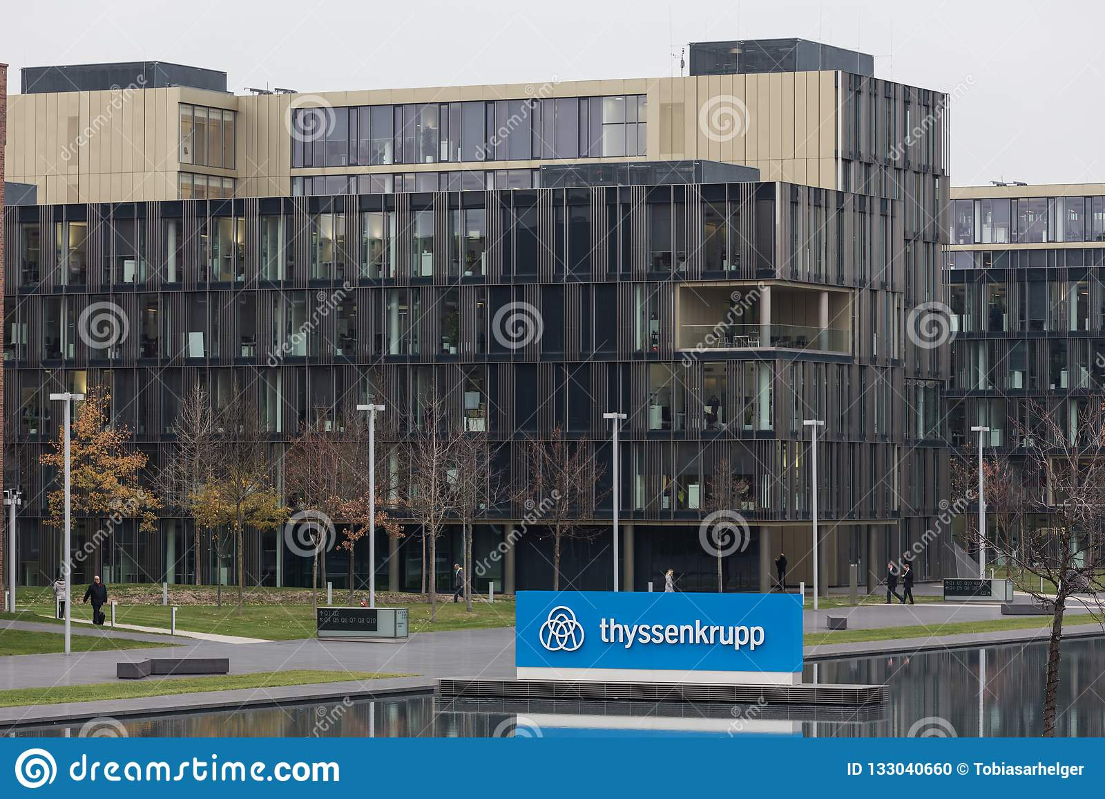 Essen, Rhénanie-du-Nord-Westphalie/Allemagne - 22 11 18 : sièges sociaux quartier de ThyssenKrupp à Essen Allemagne