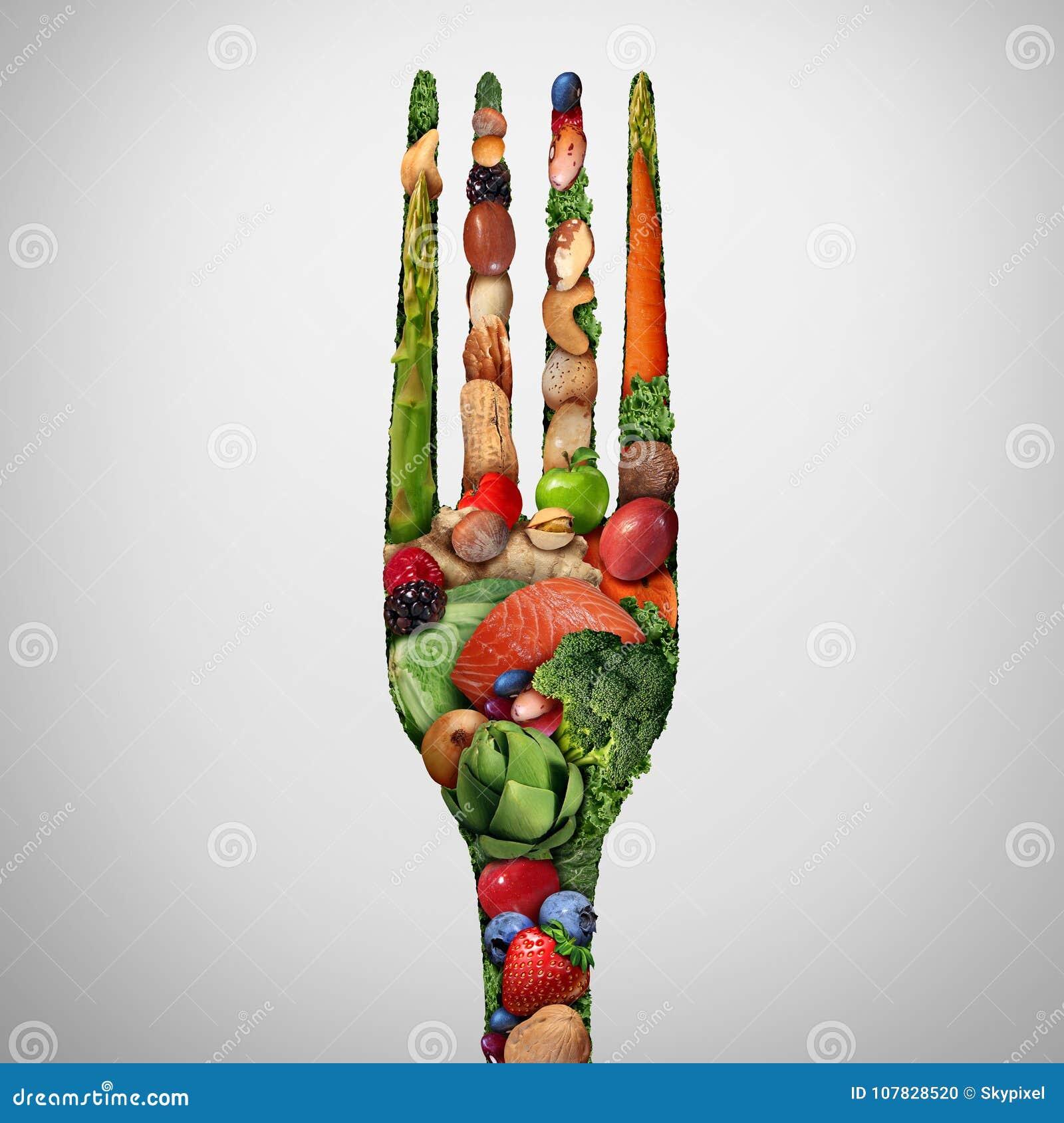 Essen Sie gesunde Nahrung