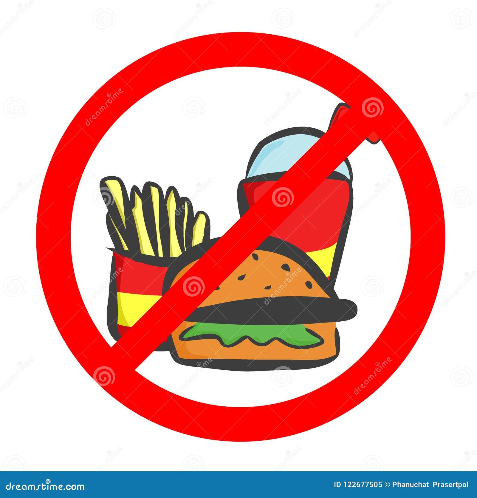 Essen Sie nicht und trinken Sie Symbol Kein Essen oder Trinken, Verbotszeichen Auch im corel abgehobenen Betrag
