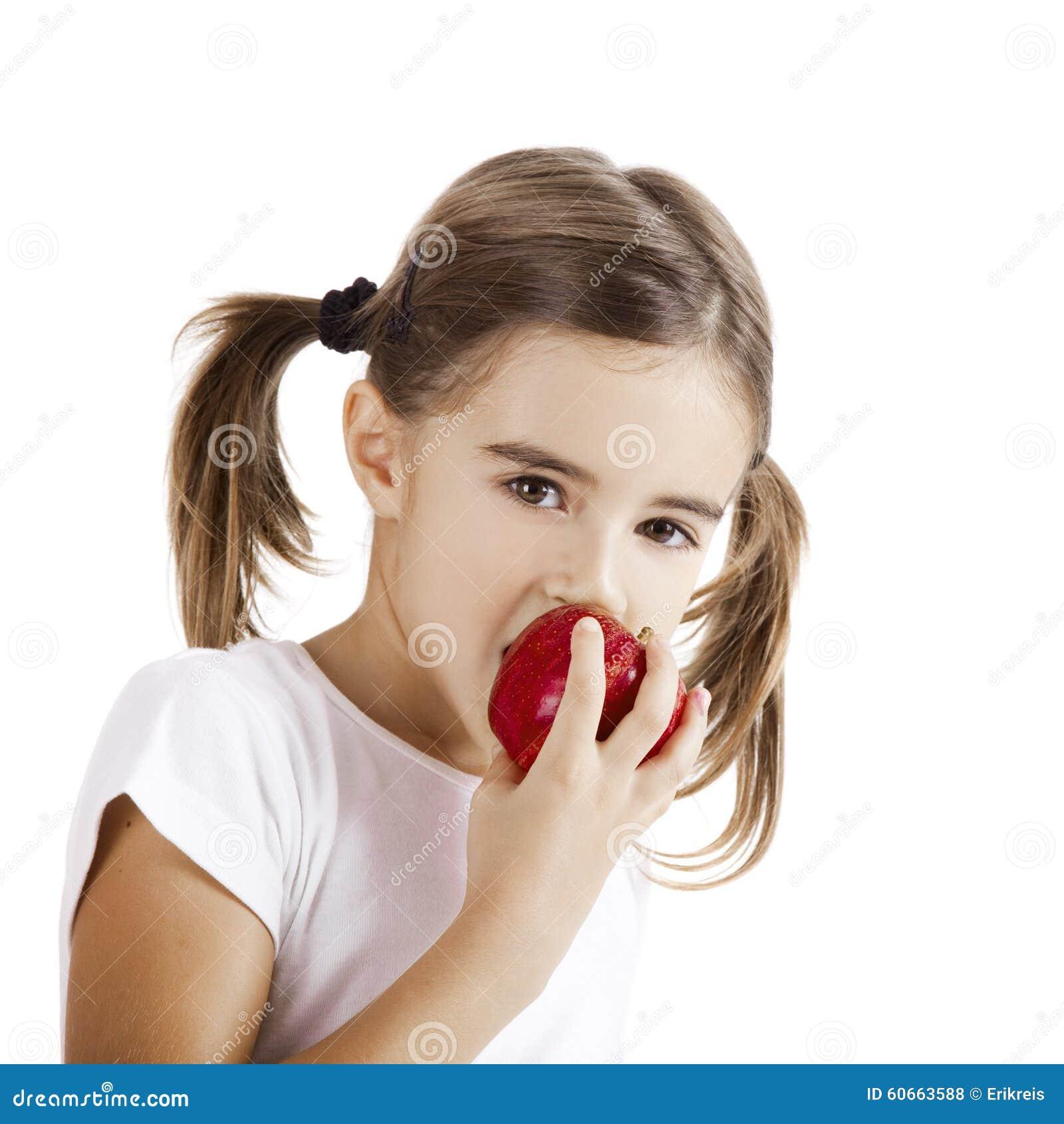 Essen von einem Apple