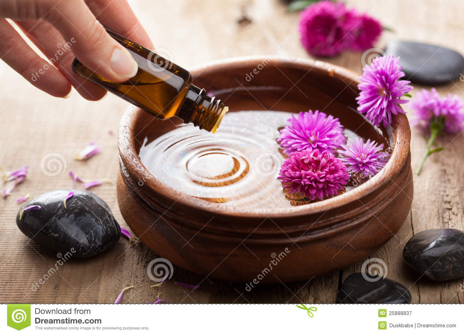 Essentiële olie voor aromatherapy