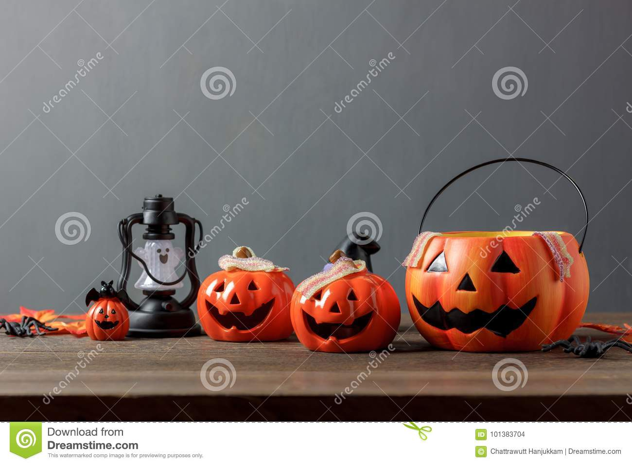 Essential accessory of Happy Halloween decorations festival concept background.