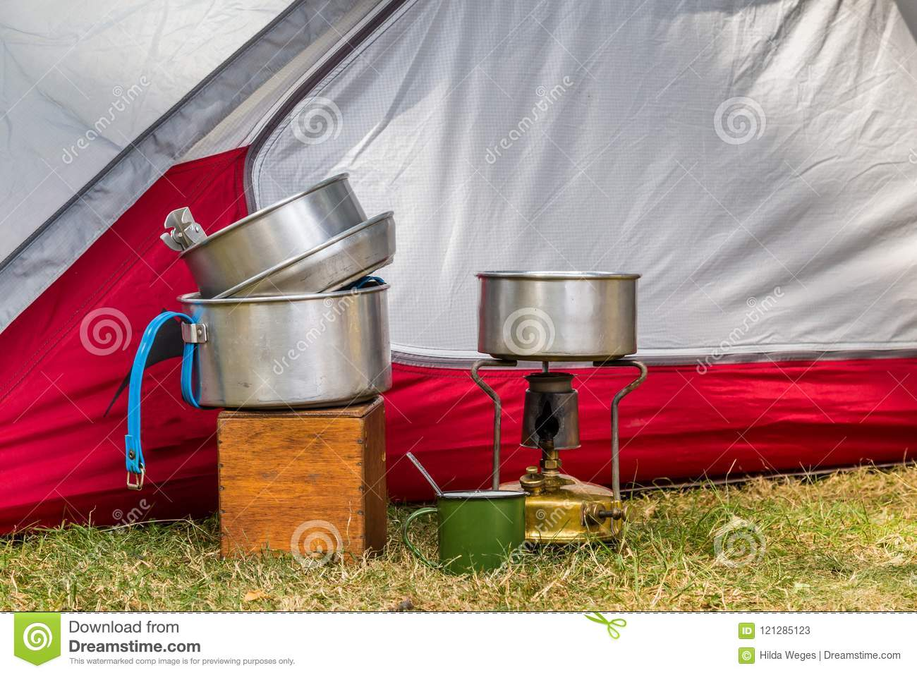 Cooking equipment on a campsite