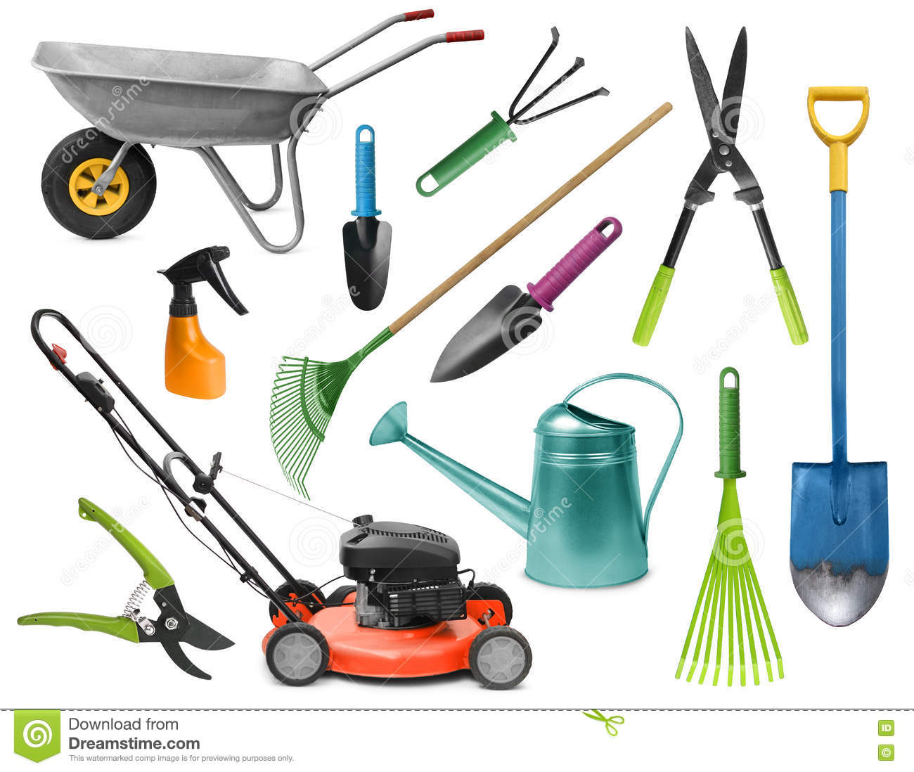 Essential Gardening Tools Stock Photo Image 73700708