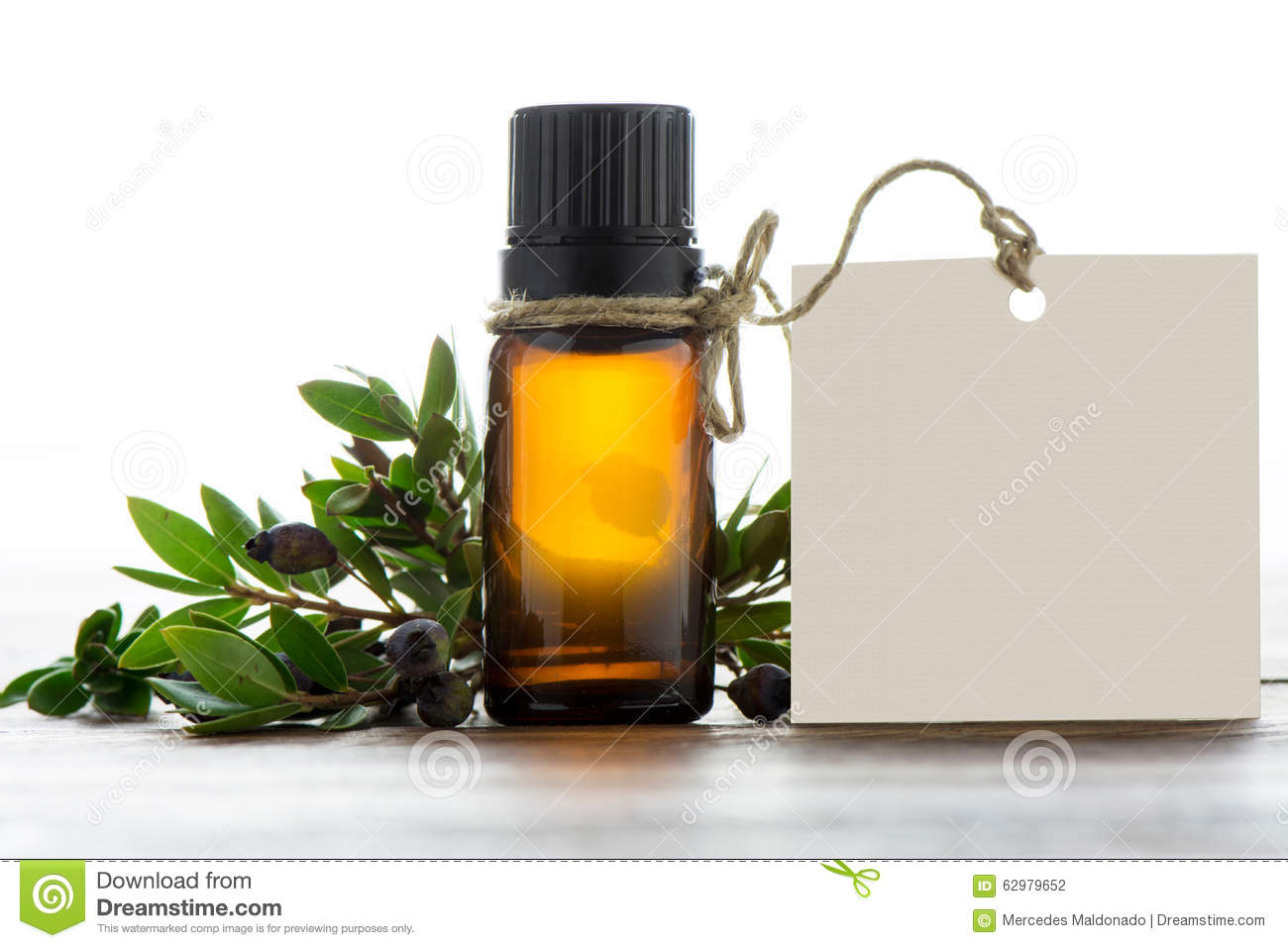 Essential Oil Empty Tags And Chamomile Royalty Free Stock