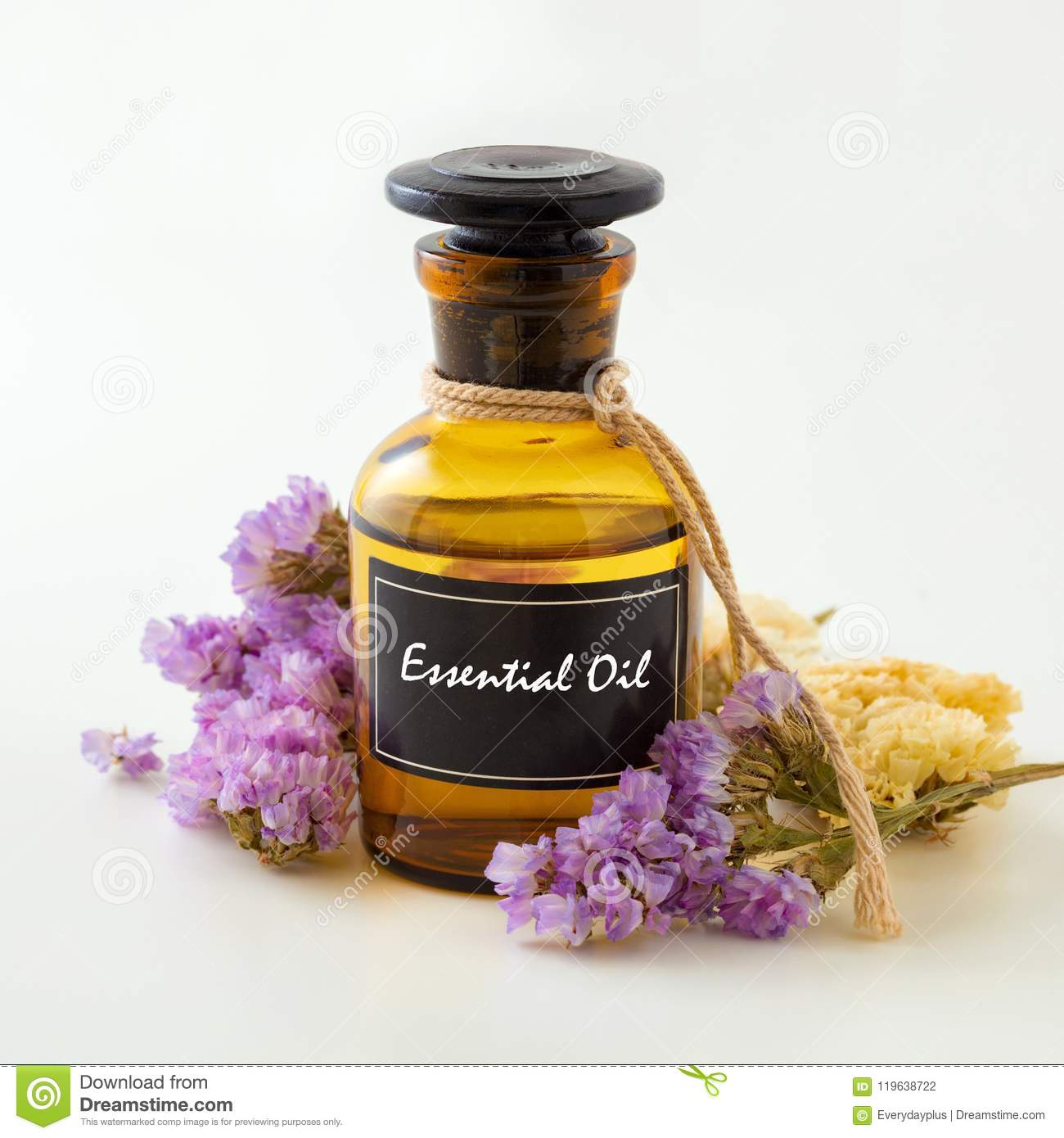Essential Oil On White Background Stock Photo Image Of Medicine