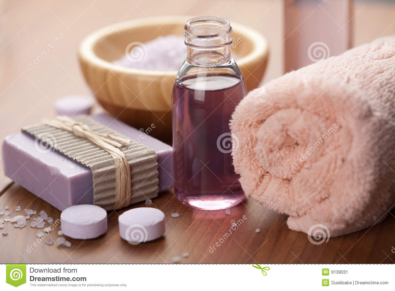 Essential oil and herbal soap. spa and body care