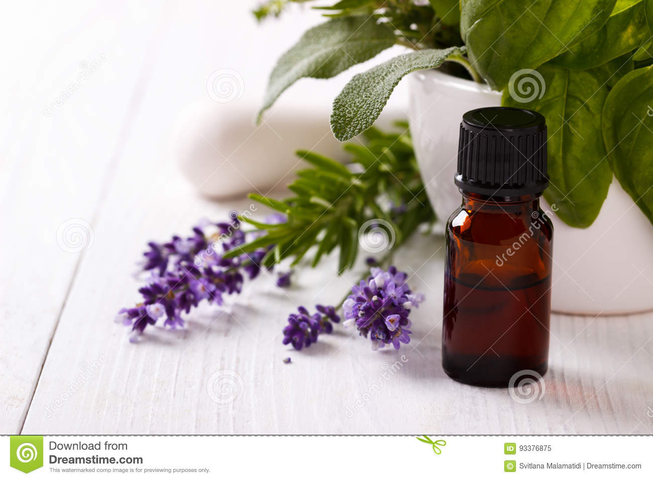 Essential oil and lavender flowers stock image image of medicine lavender flowers and essential oil over white background spa and wellness setting mightylinksfo