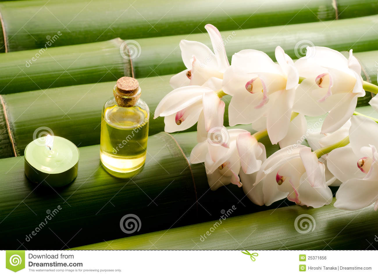 Essential Oil And White Orchid Royalty Free Stock Image Image