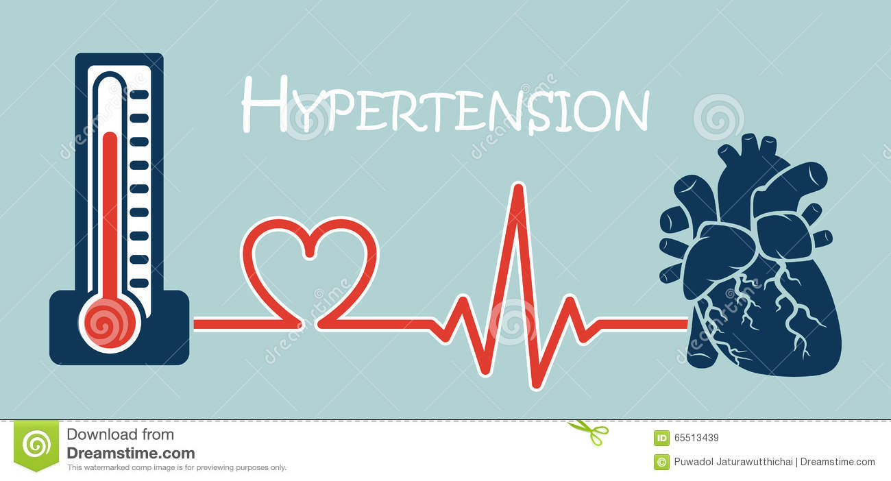 Essential Or Primary Hypertension Stock Vector..