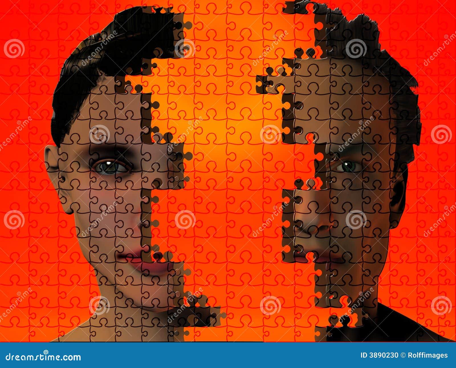 Essere umano di puzzle