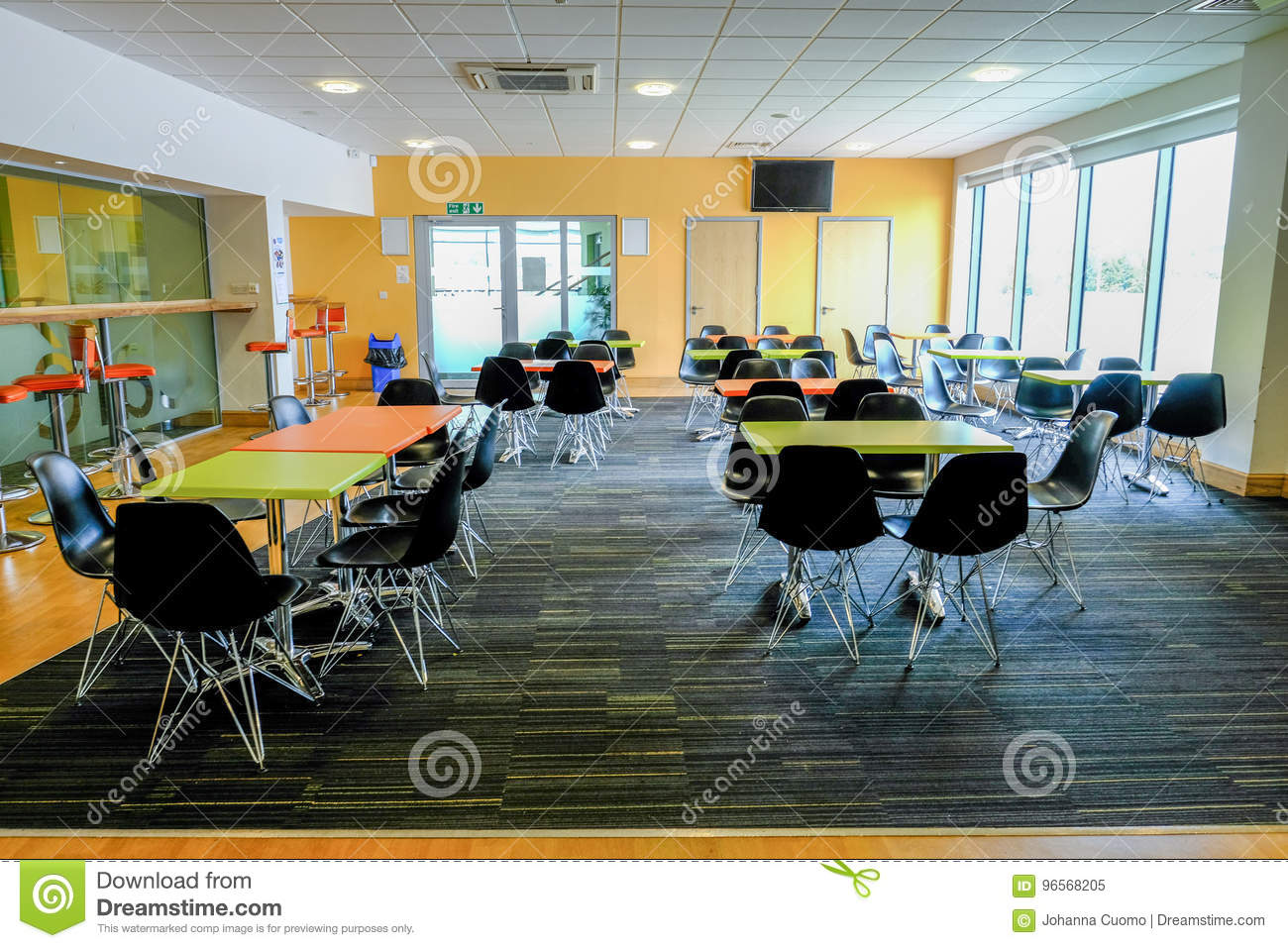 Essex England UK June Empty Canteen With Tables And C - England conference table
