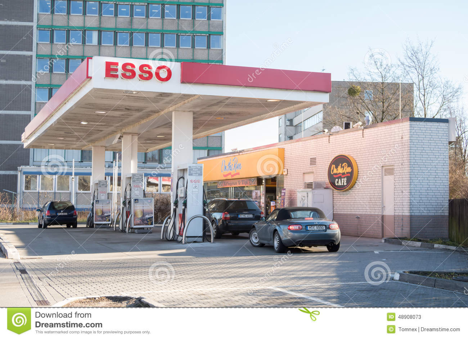 esso fuel station editorial stock photo image of fuel 48908073. Black Bedroom Furniture Sets. Home Design Ideas