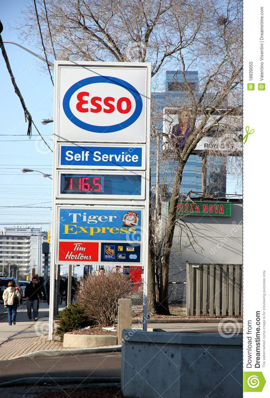 Esso Gas Station Sign Editorial Image Image 18839055