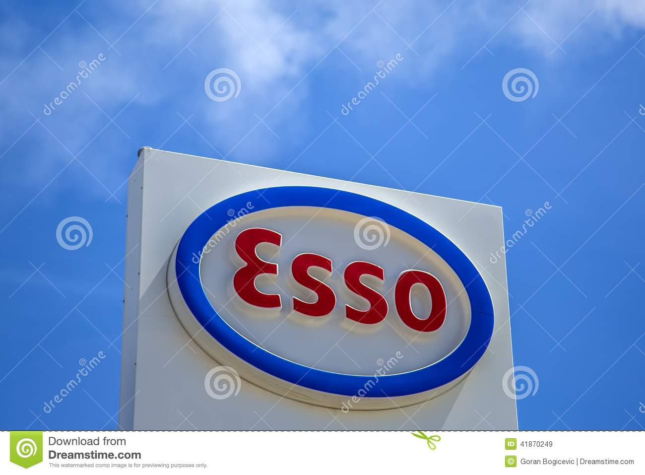 Esso sign editorial stock image image of emblem name 41870249 editorial stock photo buycottarizona Gallery