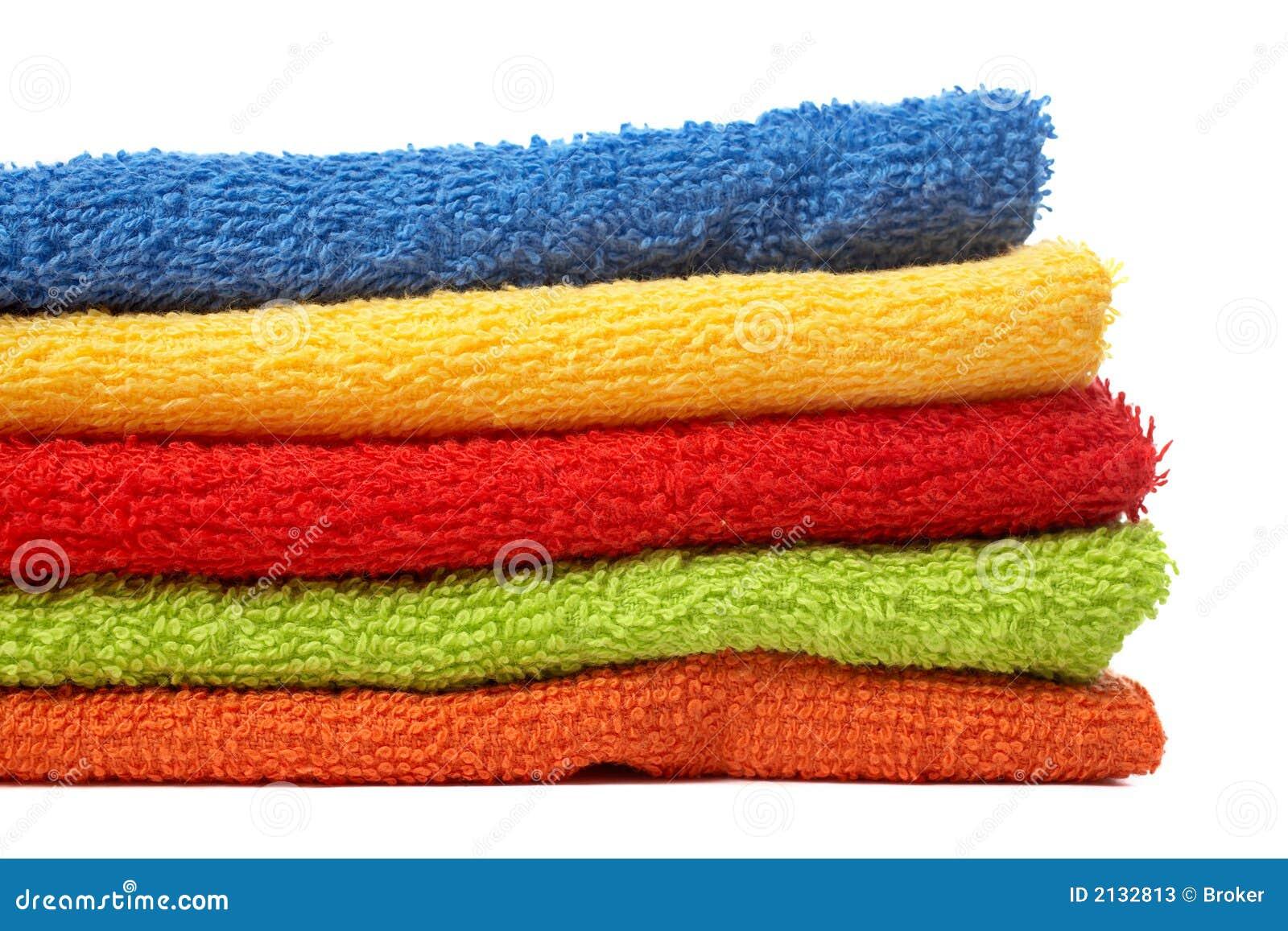 Essuie-main multicolores empilés