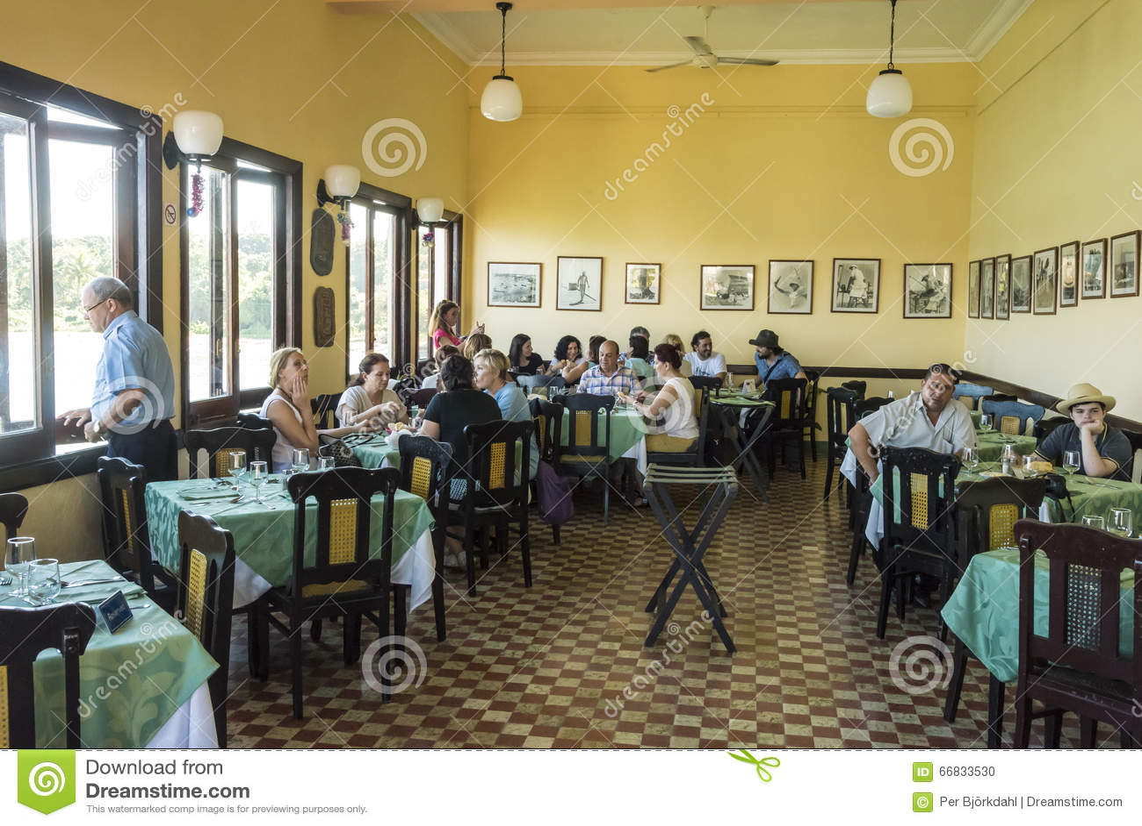 Esszimmer La Terraza Restaurant Kuba Redaktionelles Bild   Bild