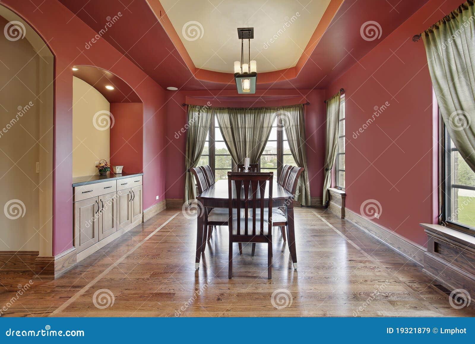 rote wand esszimmer, Wohnzimmer dekoo