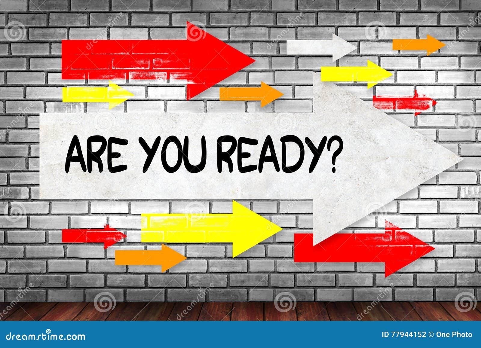 ¿Está usted listo?