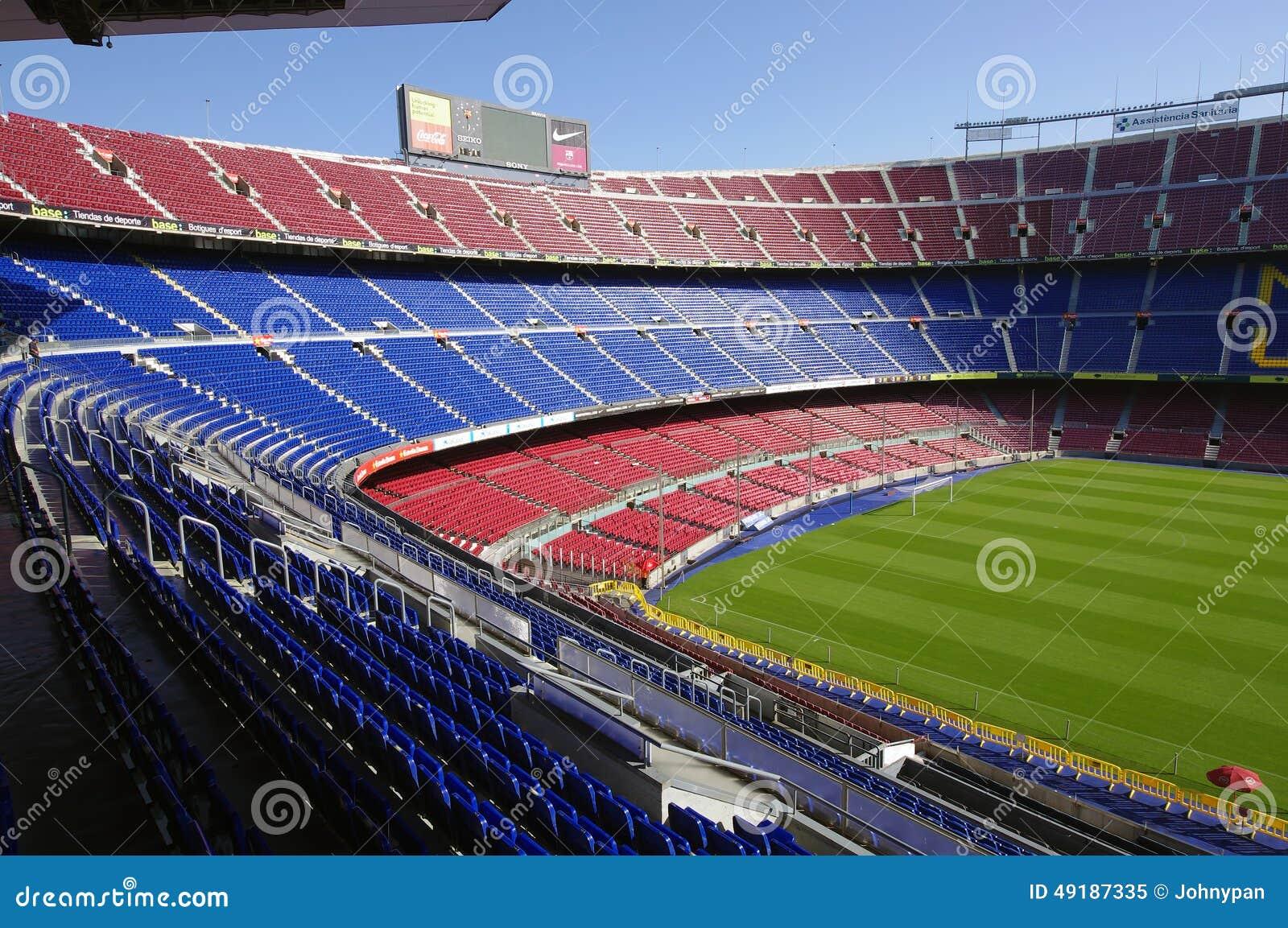 Estadio De Camp Nou Barcelona Espanha Imagem Editorial Imagem De Clube Vermelho 49187335