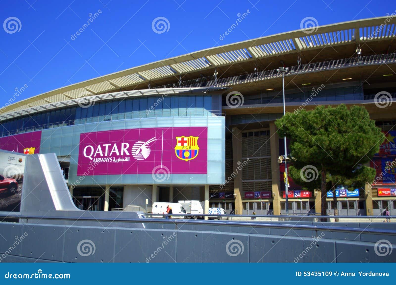 Estadio De Camp Nou Barcelona Espanha Imagem De Stock Editorial Imagem De Barcelona Camp 53435109