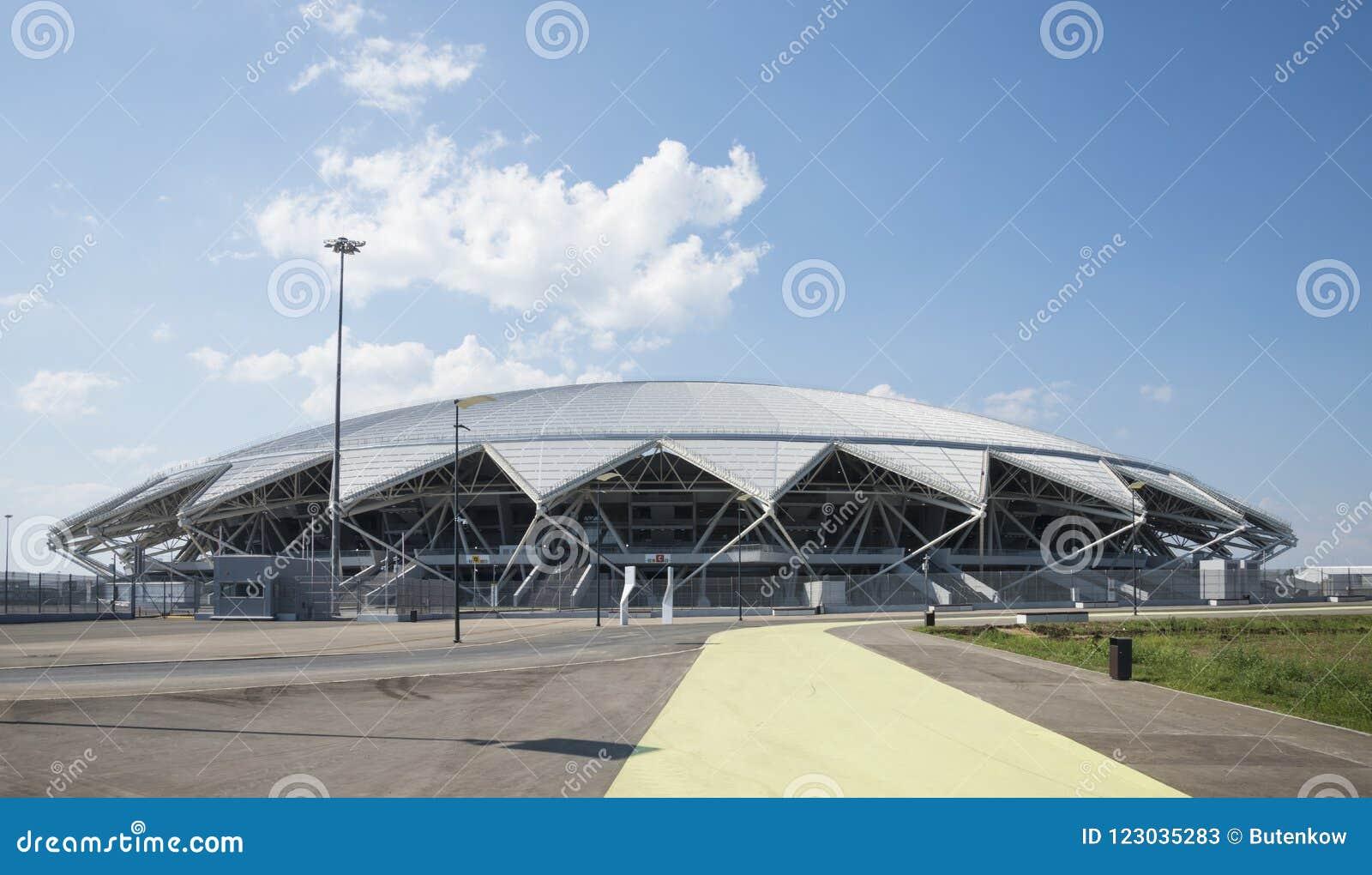 Estádio de futebol de Samara Arena Samara - a cidade que hospeda o campeonato do mundo de FIFA em Rússia em 2018