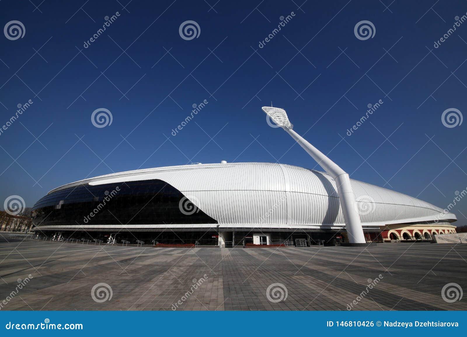 Estádio do dínamo após a reconstrução antes do I mim jogos europeus em 2019