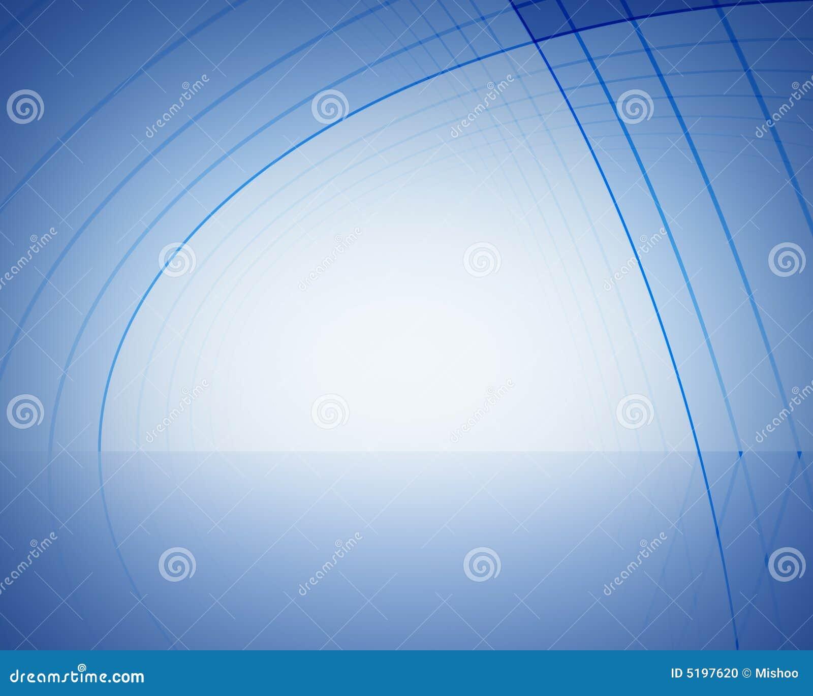 Estágio azul abstrato