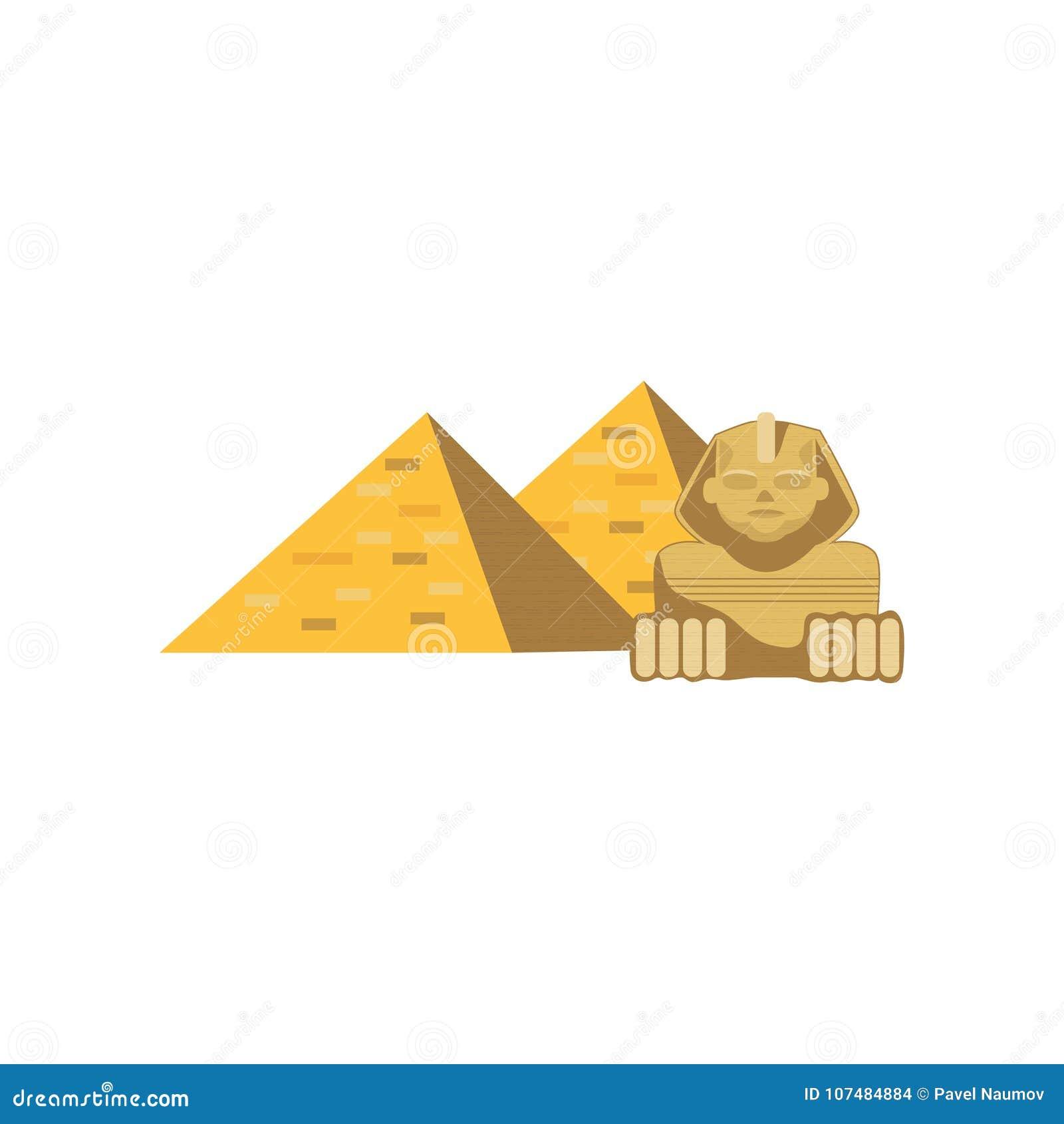 Estatua Das Piramides E Da Esfinge De Egito A Grande Sinais De