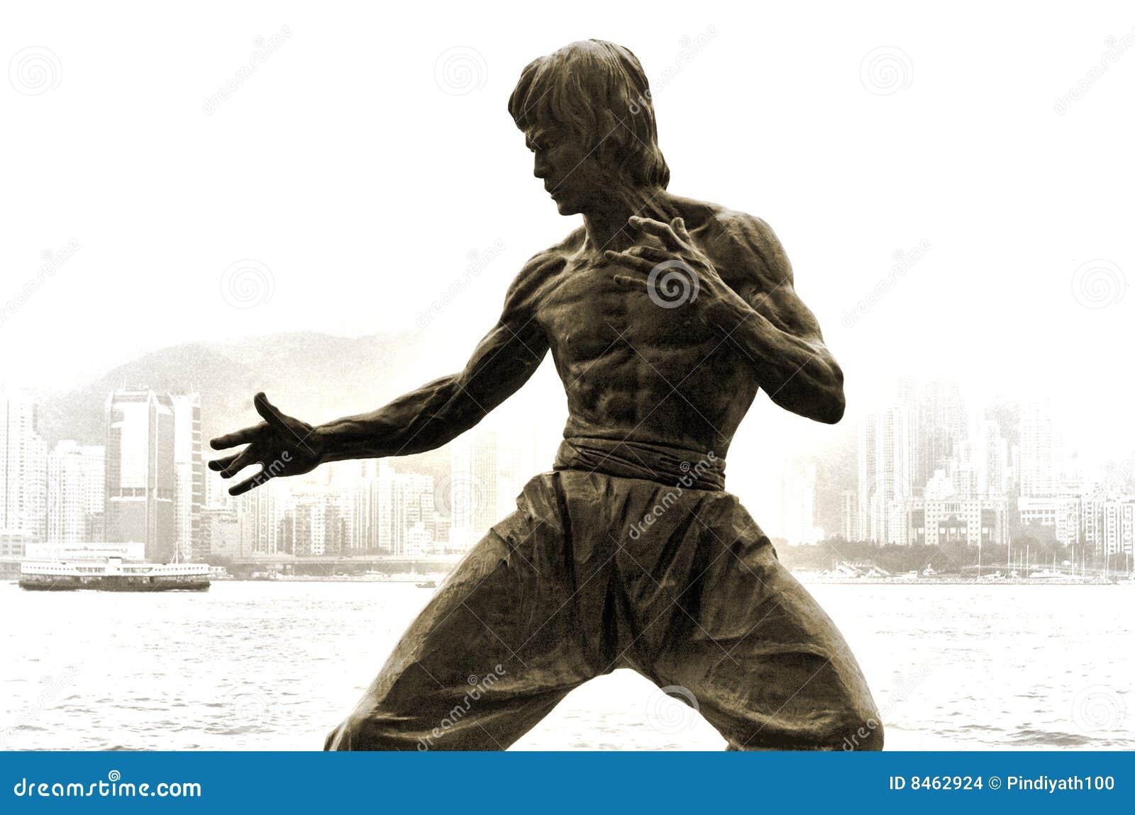 A estátua de Bruce Lee