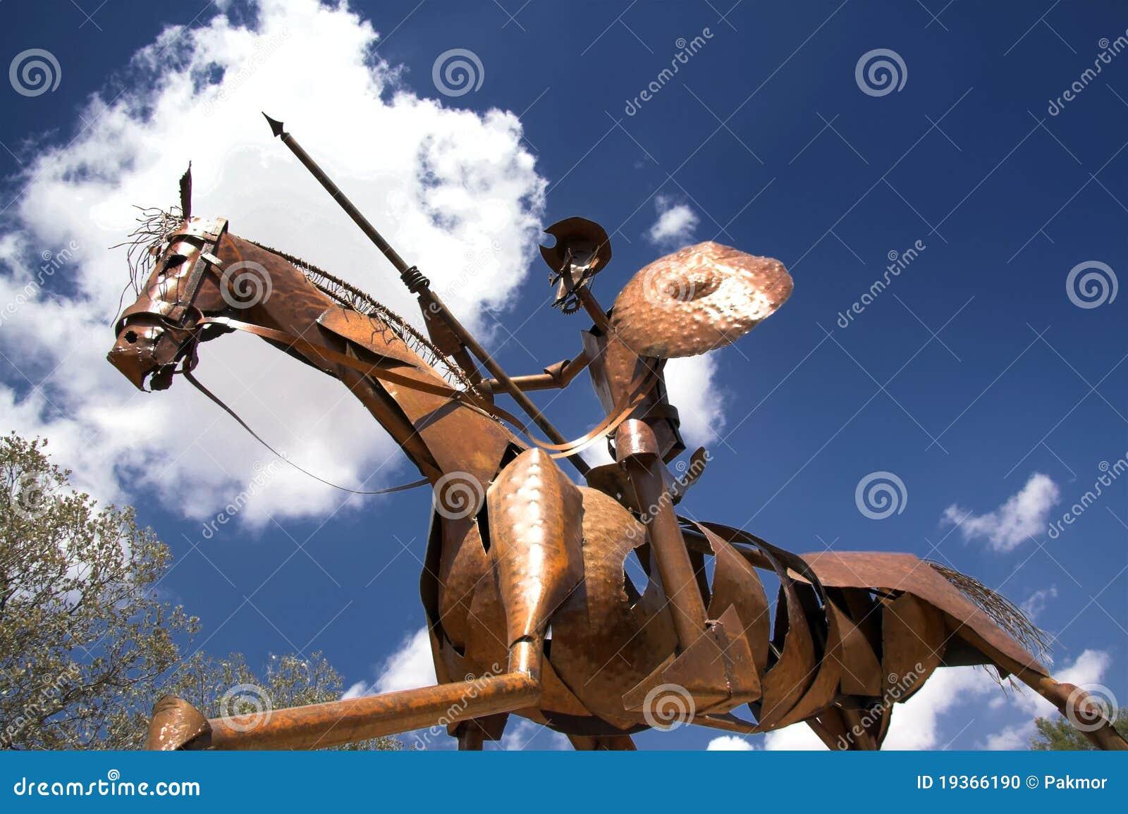 Estátua de Don Quixote, la Mancha em Spain