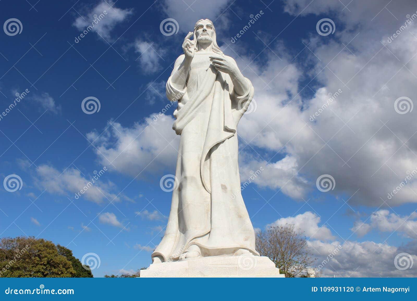 Estátua de Jesus Christ em Havana, Cuba