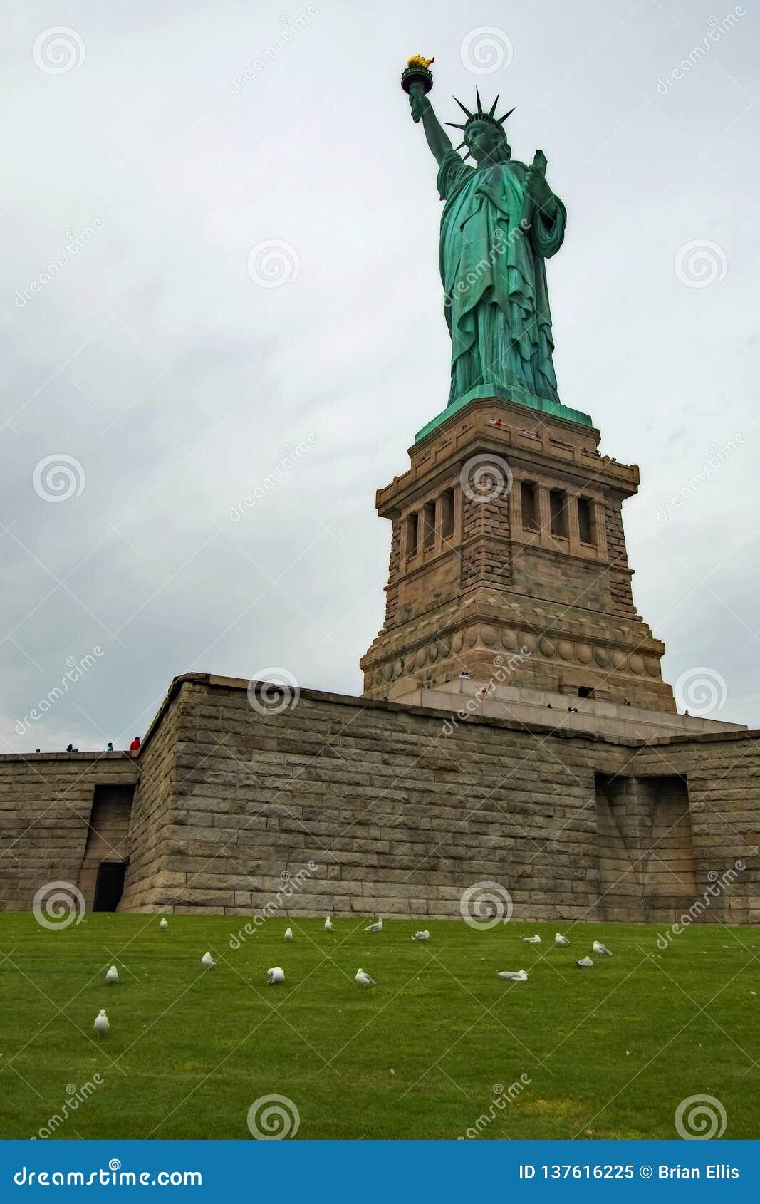 A estátua de Liberty Overcast