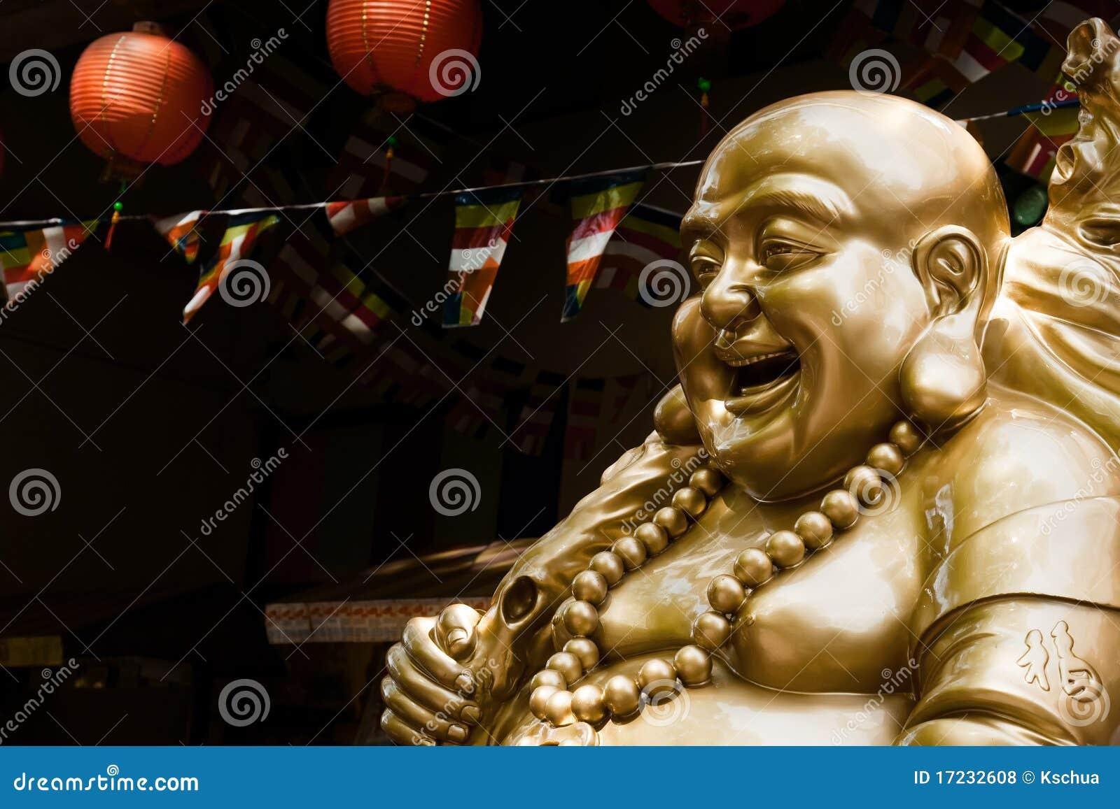 Estátua de rir Buddha