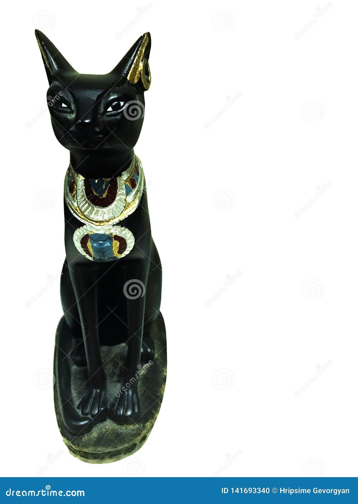 Estátua do gato egípcio