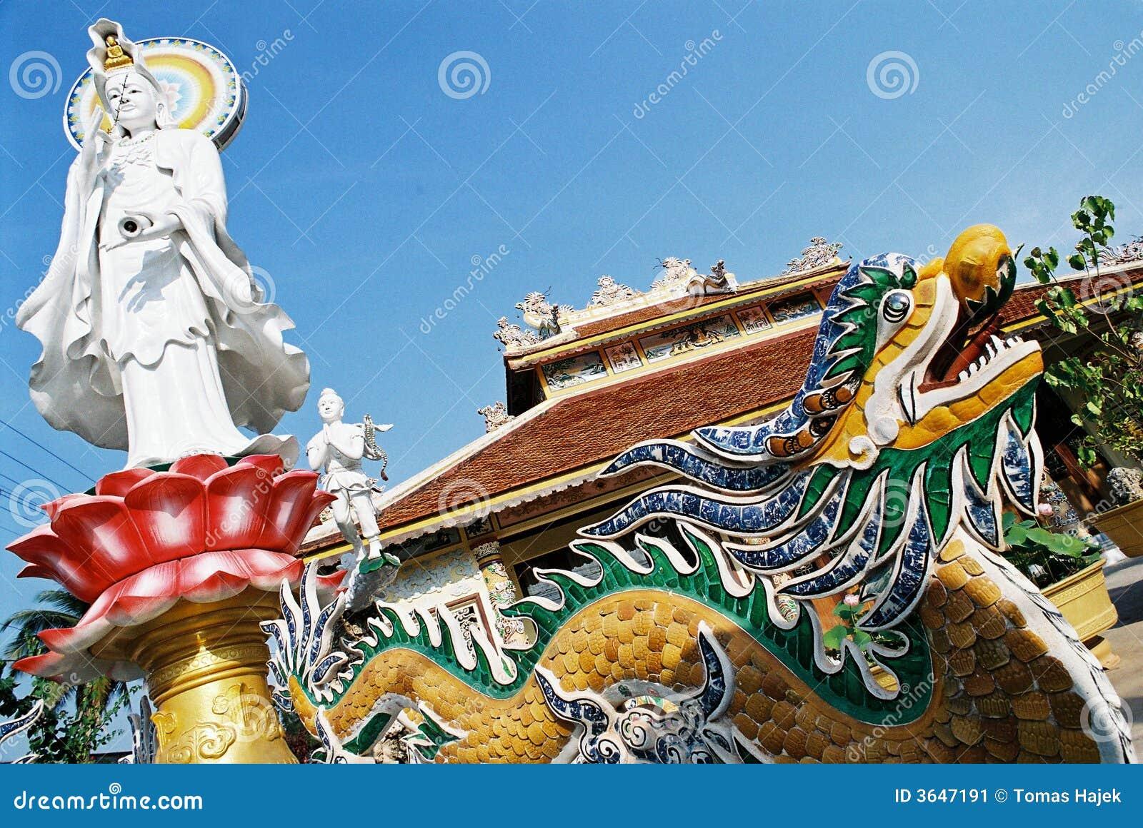Estátua e um dragão - Laos