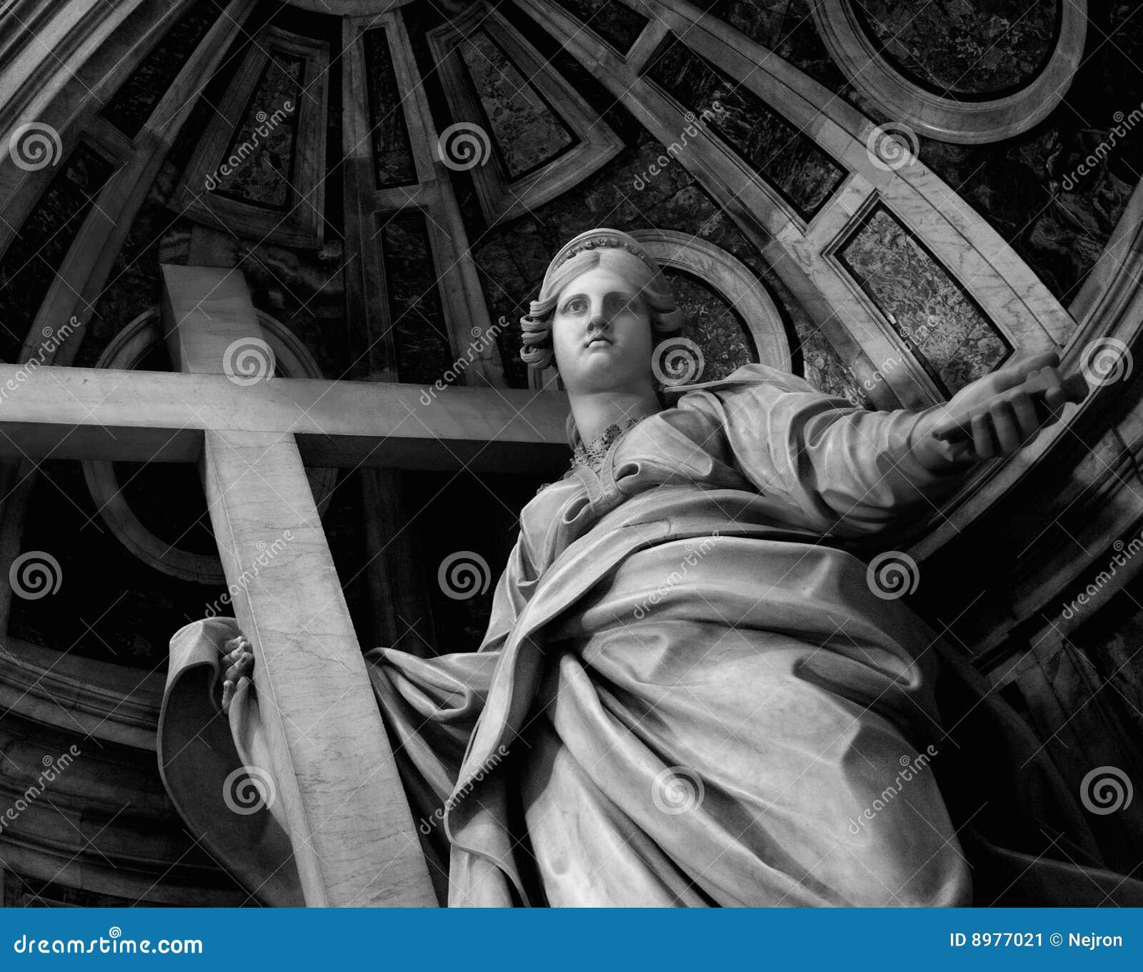Estátua na basílica do St. Peter