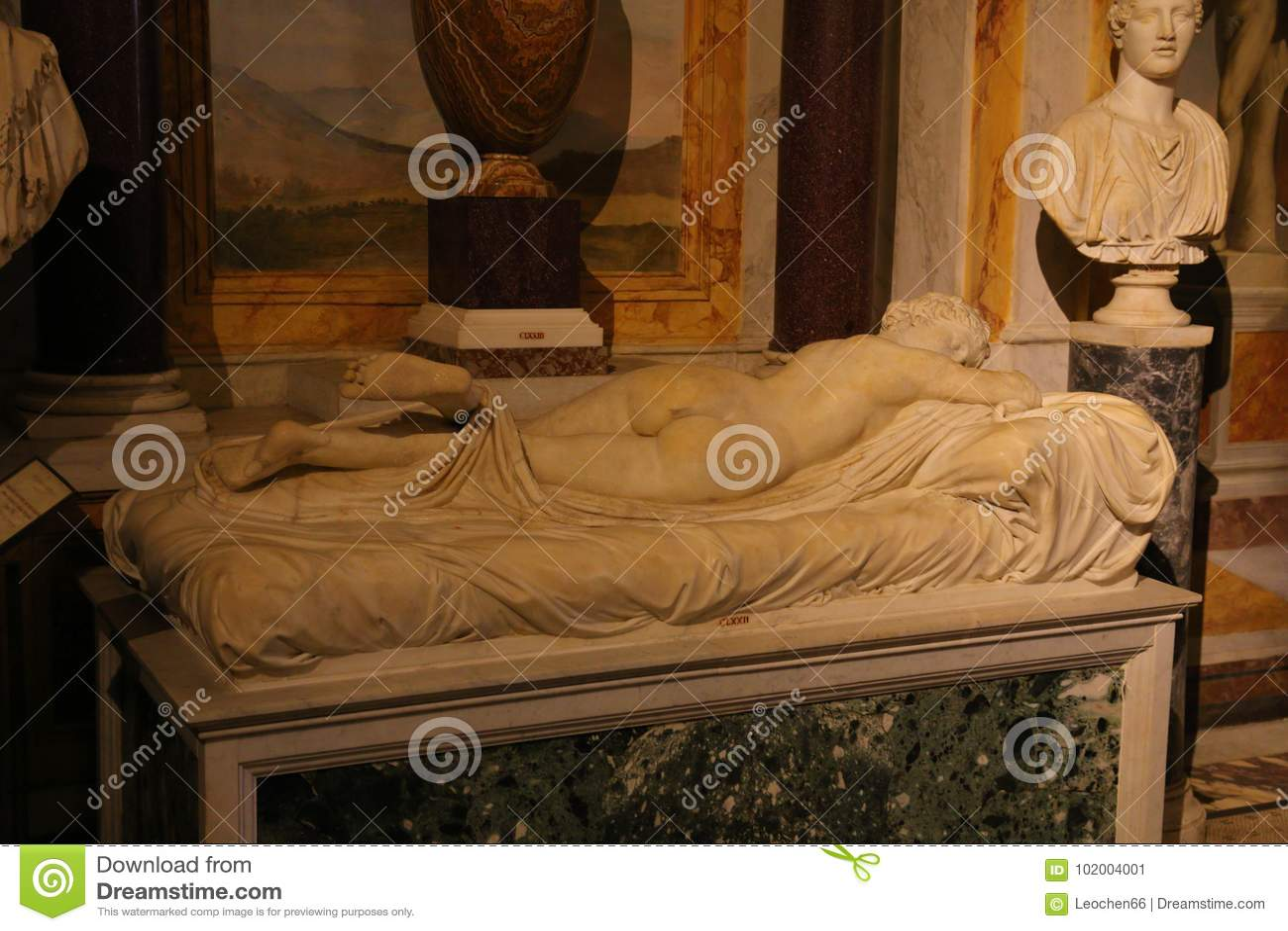 Estátua na galeria Borghese Roma