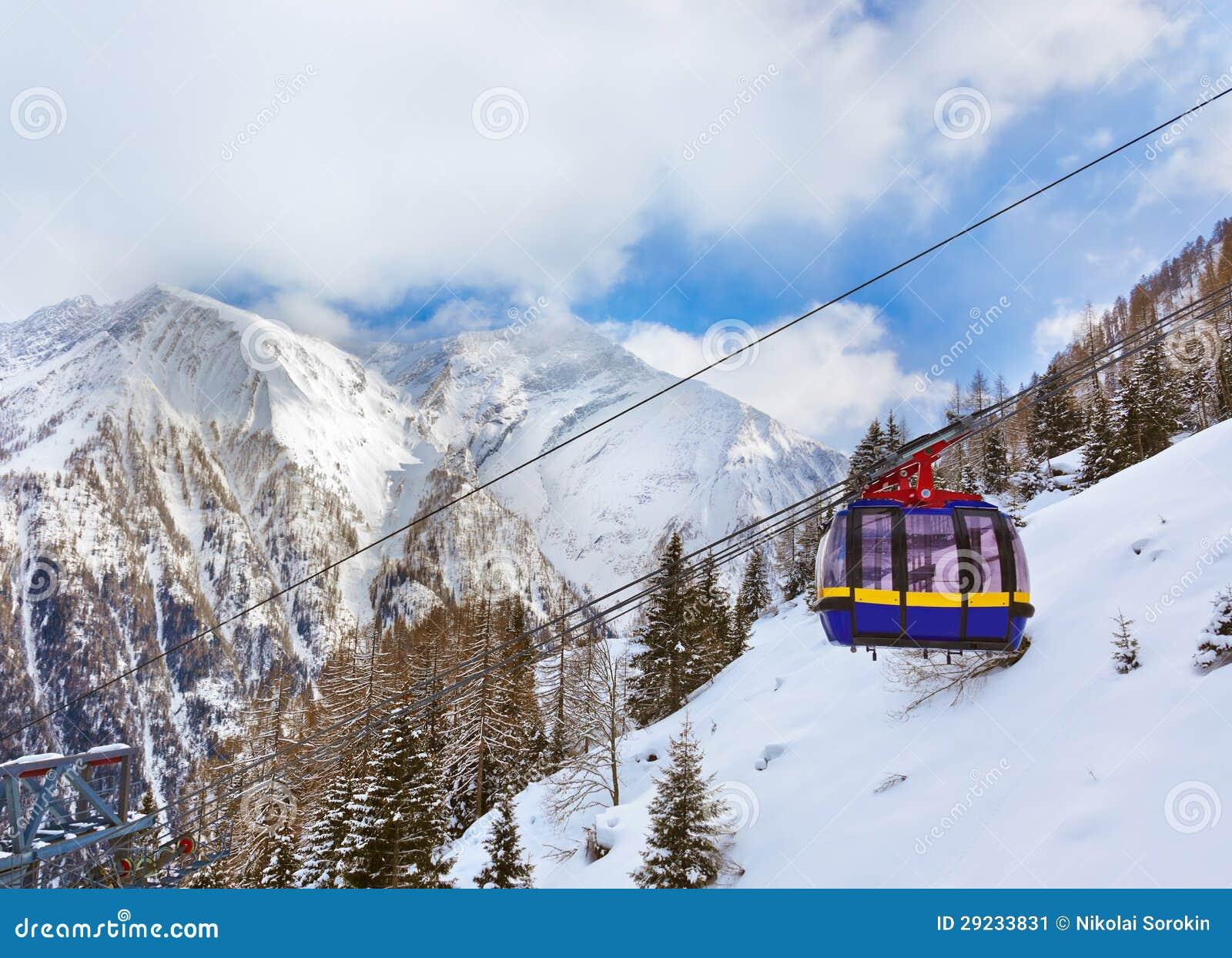 Download Estância De Esqui Kaprun Áustria Das Montanhas Imagem de Stock - Imagem de skier, povos: 29233831