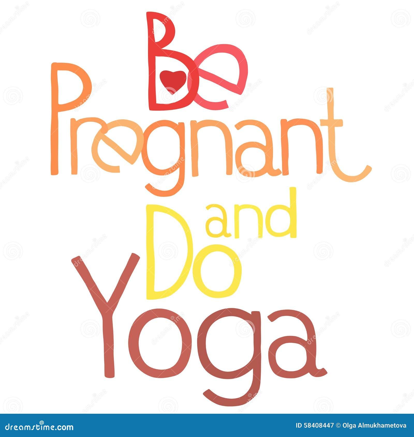 Esté Embarazada Y Haga La Yoga 3 Ilustración Del Vector